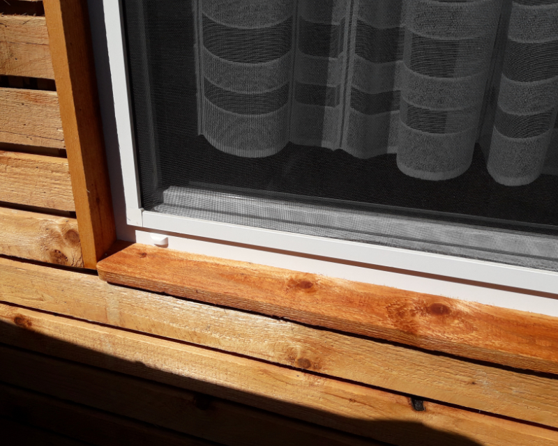 Holz-Fassade-Detail
